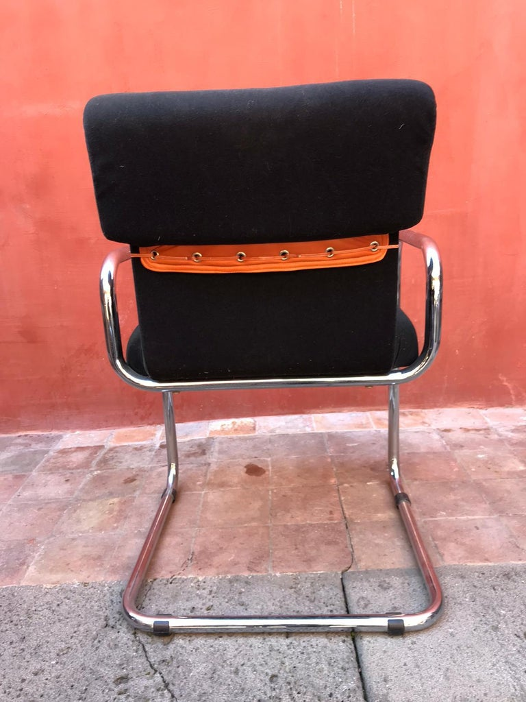 Late 20th Century Set of Six Guido Faleschini Tucroma Italian Chairs Vintage Mid-Century For Sale