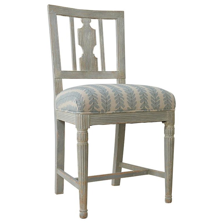 Swedish Set of Six Gustavian Chairs from Stockholm, Circa 1870 For Sale