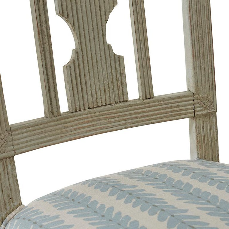 19th Century Set of Six Gustavian Chairs from Stockholm, Circa 1870 For Sale