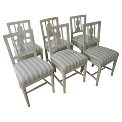 Set of Six Gustavian Chairs from Stockholm, Circa 1870