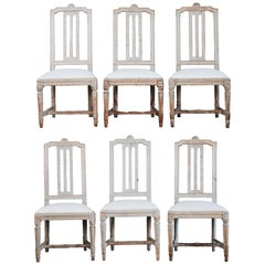 Set of Six Gustavian Dinning Chairs