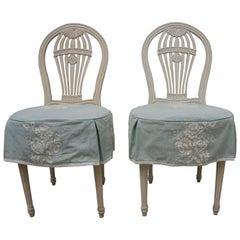 Set of Six Gustavian Style Balloon Back Chairs