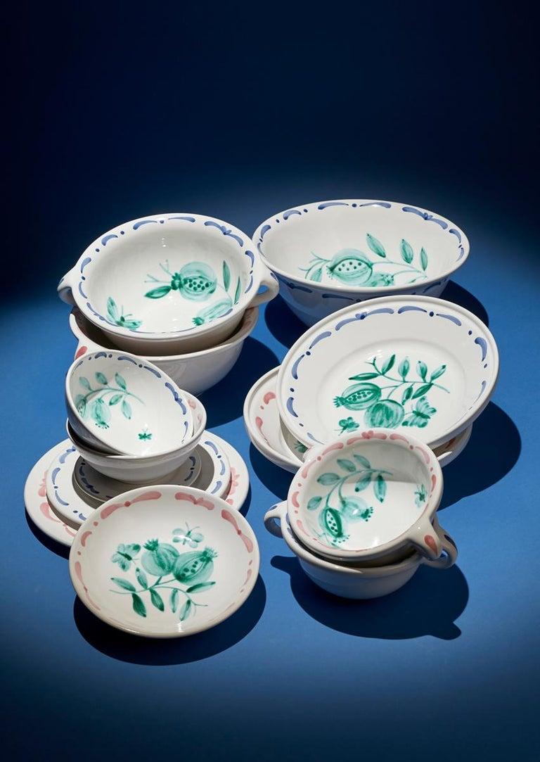 Austrian Set of Six Hand-Painted Ceramic Dinner Plates Sofina Boutique Kitzbühel Austria For Sale
