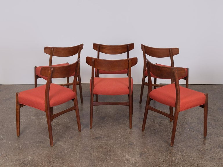 Danish Set of Six Hans J. Wegner Ch-23 Dining Chairs for Carl Hansen For Sale