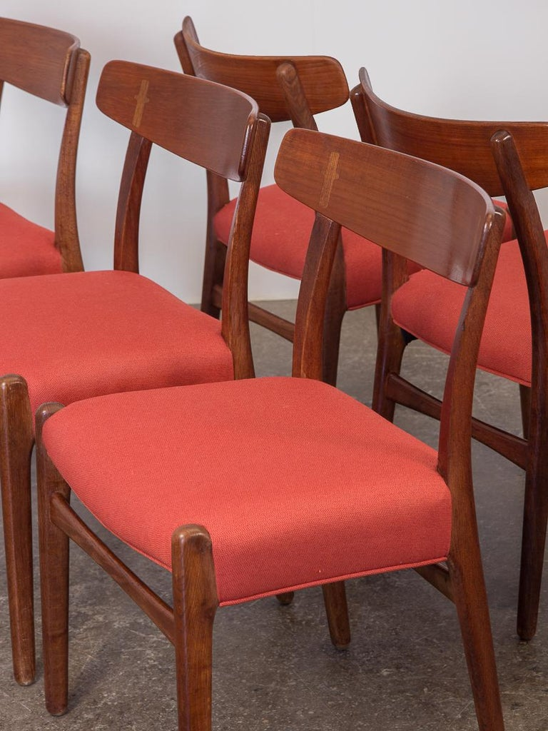 20th Century Set of Six Hans J. Wegner Ch-23 Dining Chairs for Carl Hansen For Sale