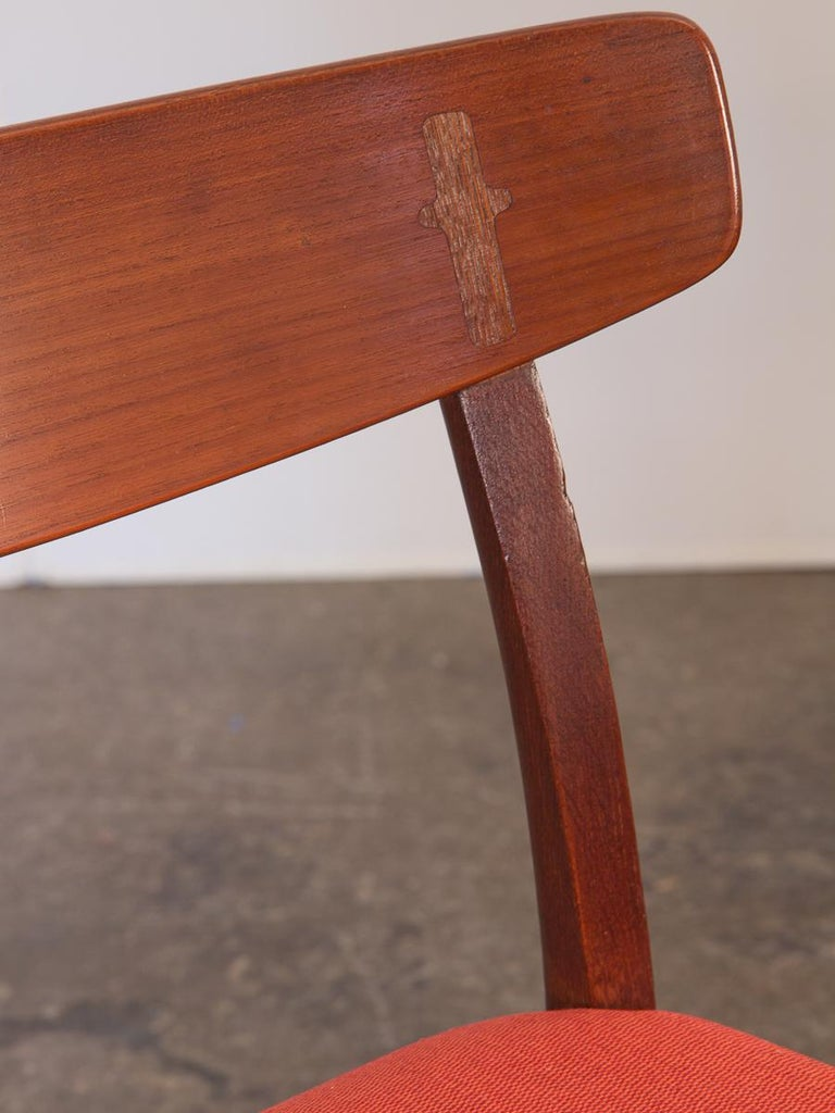 Set of Six Hans J. Wegner Ch-23 Dining Chairs for Carl Hansen For Sale 2