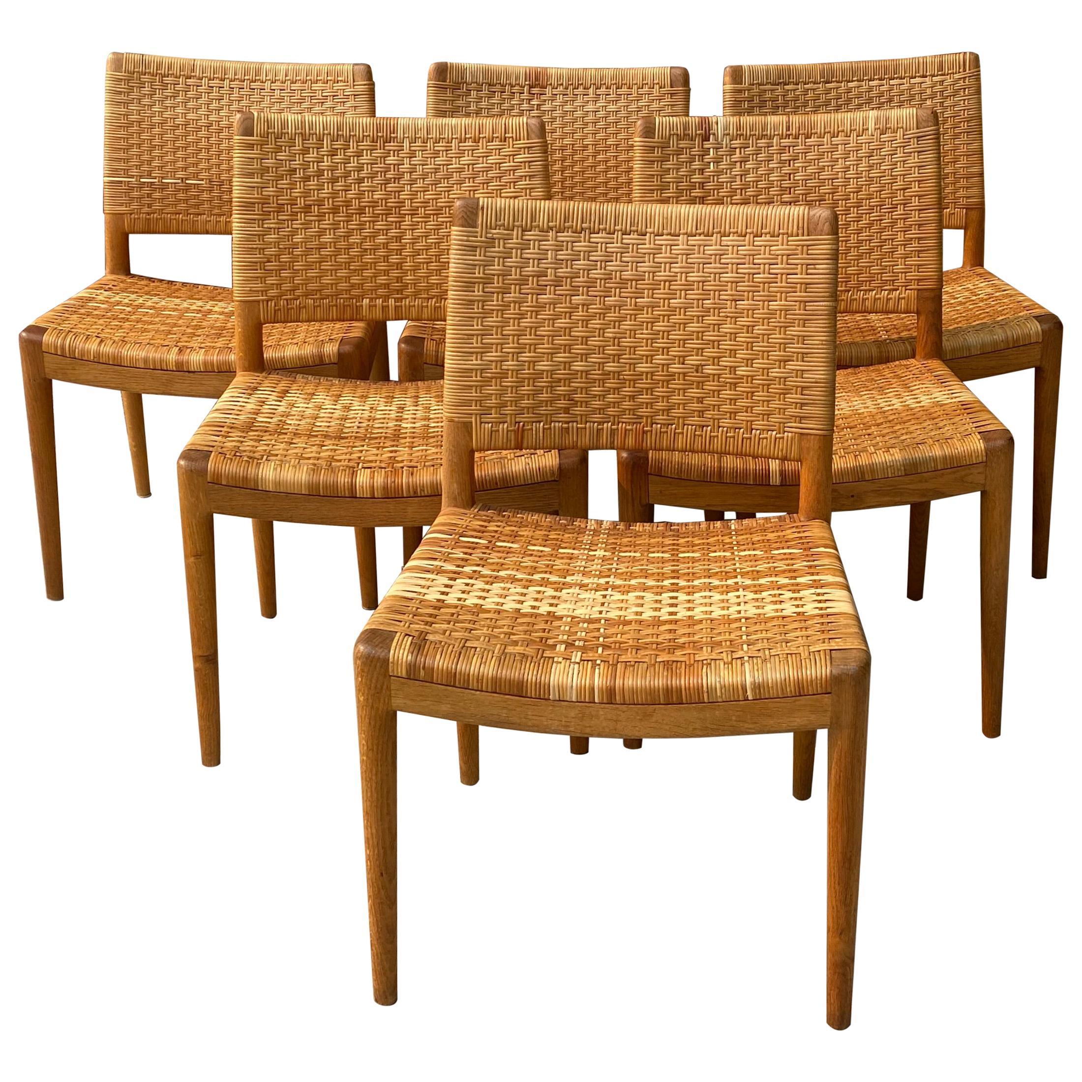Set of Six Hans Wegner for Johannes Hansen Danish Modern Dining Chairs