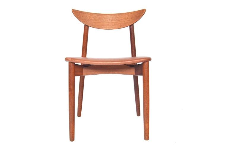 Set of Six Harry Østergaard Model 58 Teak Dining Chairs For Sale 3