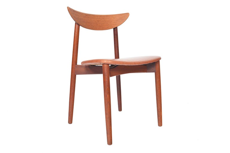 Scandinavian Modern Set of Six Harry Østergaard Model 58 Teak Dining Chairs For Sale