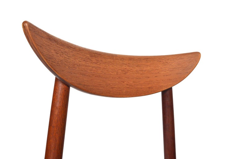 Danish Set of Six Harry Østergaard Model 58 Teak Dining Chairs For Sale