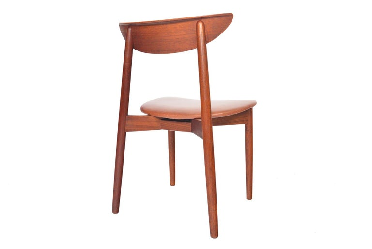Set of Six Harry Østergaard Model 58 Teak Dining Chairs In Good Condition For Sale In Berkeley, CA