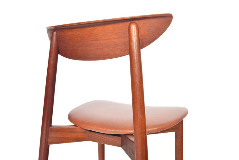 20th Century Set of Six Harry Østergaard Model 58 Teak Dining Chairs For Sale