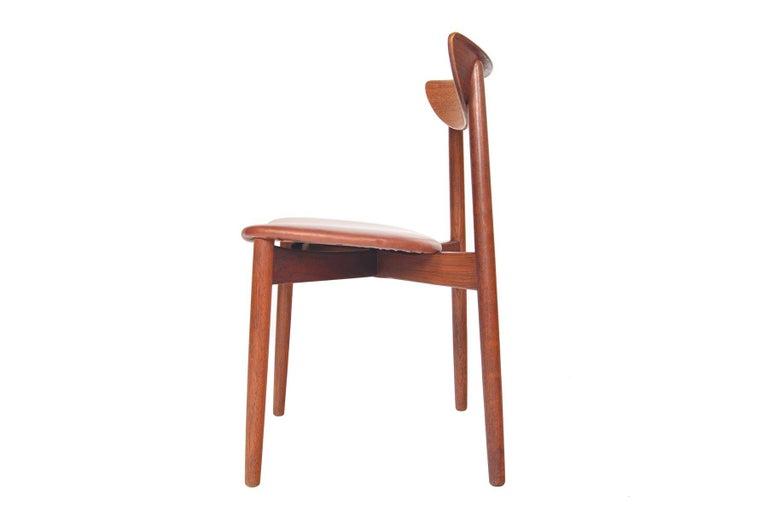 Set of Six Harry Østergaard Model 58 Teak Dining Chairs For Sale 1