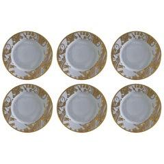 Set of Six Haviland Gold Plates