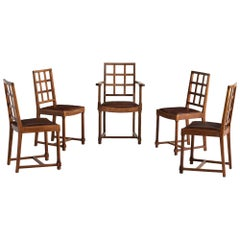 Set of Six Heals Dining Chairs, England circa 1930