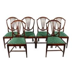Set of Six Hepplewhite Chairs, 18th Century