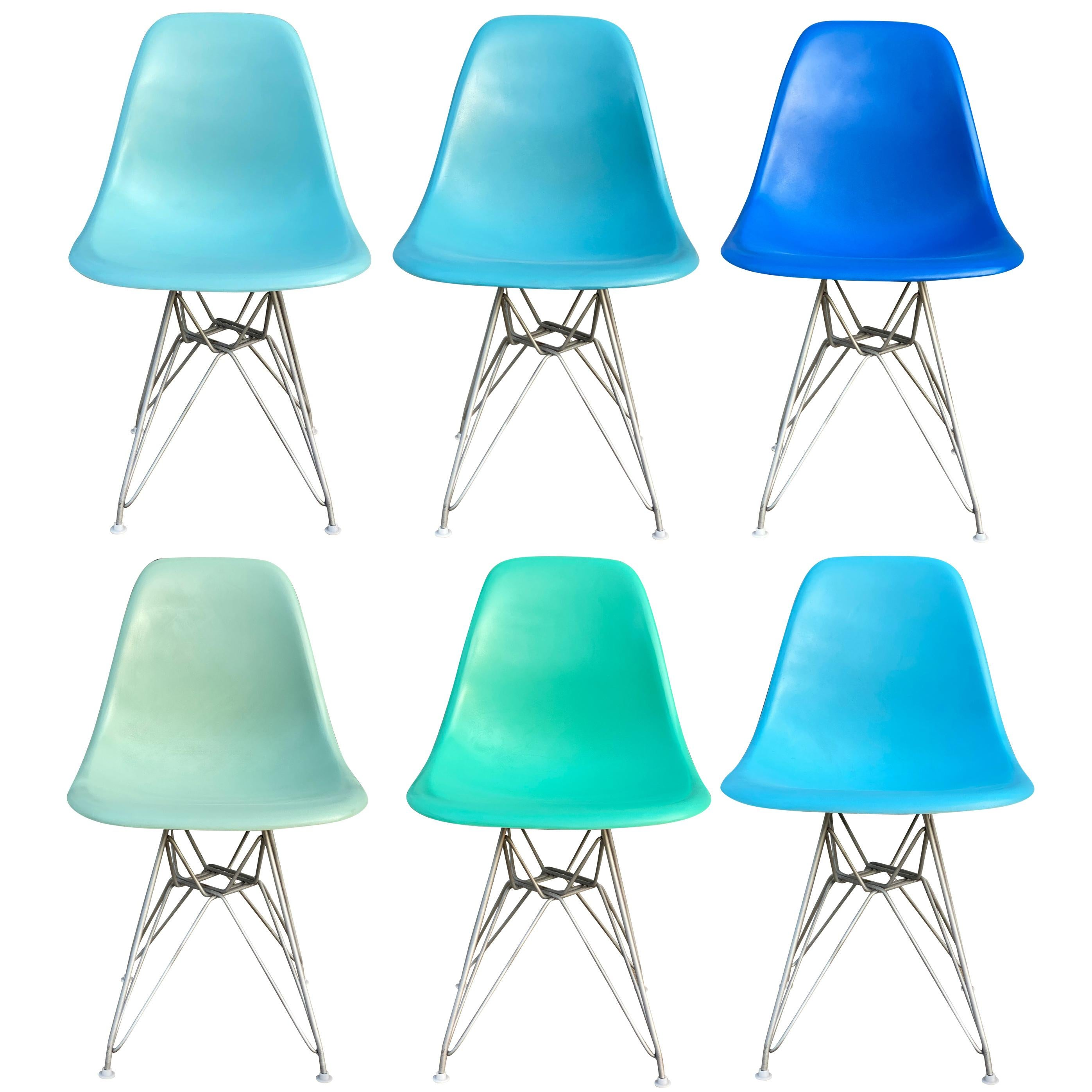 Set of Six Herman Miller Eames Dining Chairs
