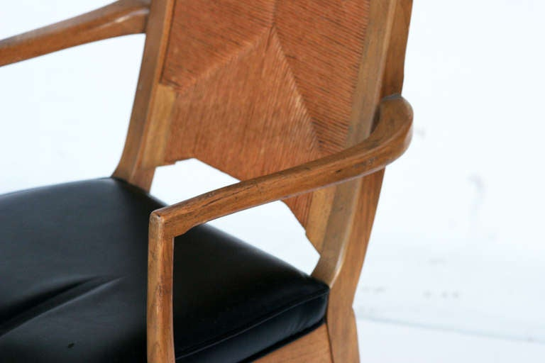Set of Six High Back Cathedral Danish Modern Dining Chairs ...