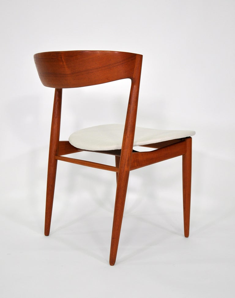 Set of Six H.W. Klein for Bramin Teak Dining Chairs For Sale 3