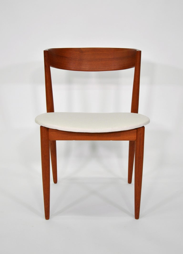 Set of Six H.W. Klein for Bramin Teak Dining Chairs For Sale 6