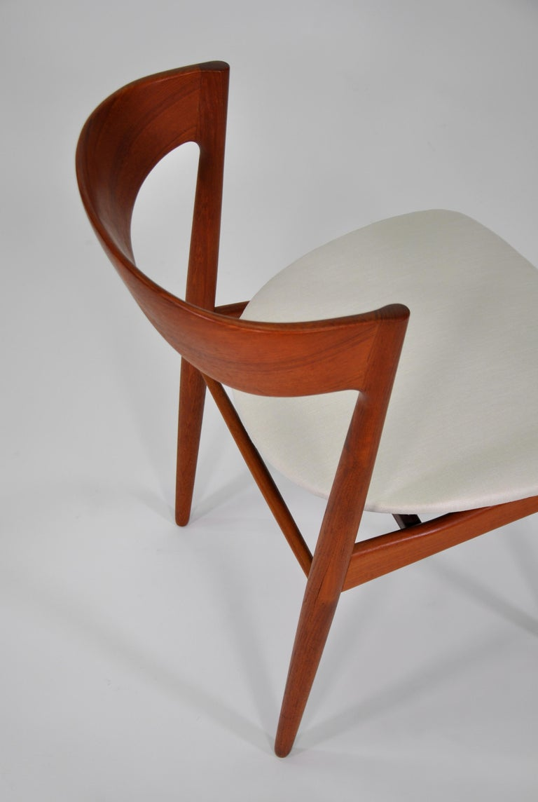 Set of Six H.W. Klein for Bramin Teak Dining Chairs For Sale 7