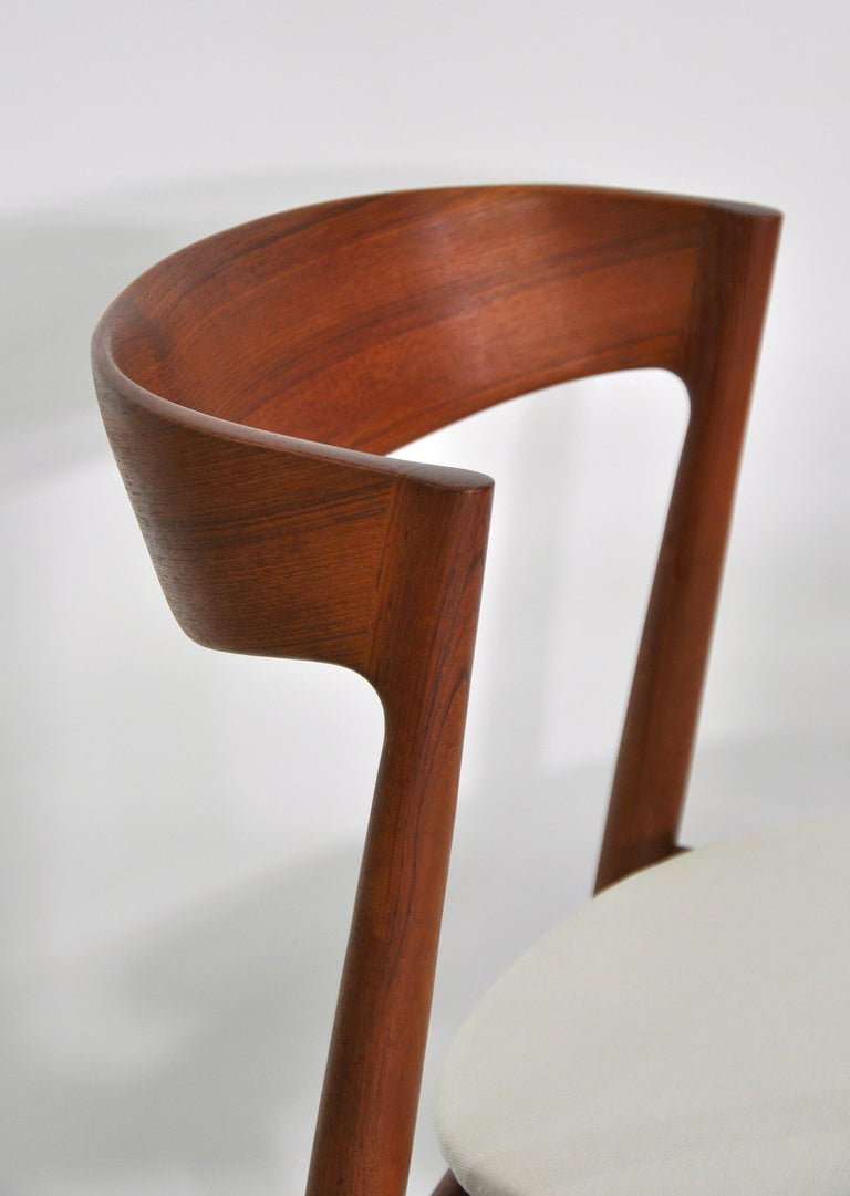 Set of Six H.W. Klein for Bramin Teak Dining Chairs For Sale 9