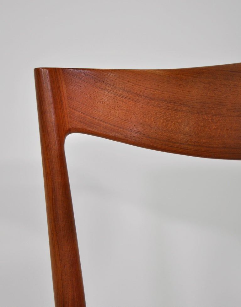 Set of Six H.W. Klein for Bramin Teak Dining Chairs For Sale 10