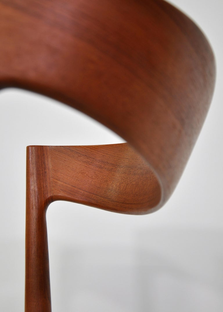 Set of Six H.W. Klein for Bramin Teak Dining Chairs For Sale 11