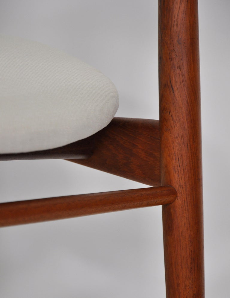 Set of Six H.W. Klein for Bramin Teak Dining Chairs For Sale 12