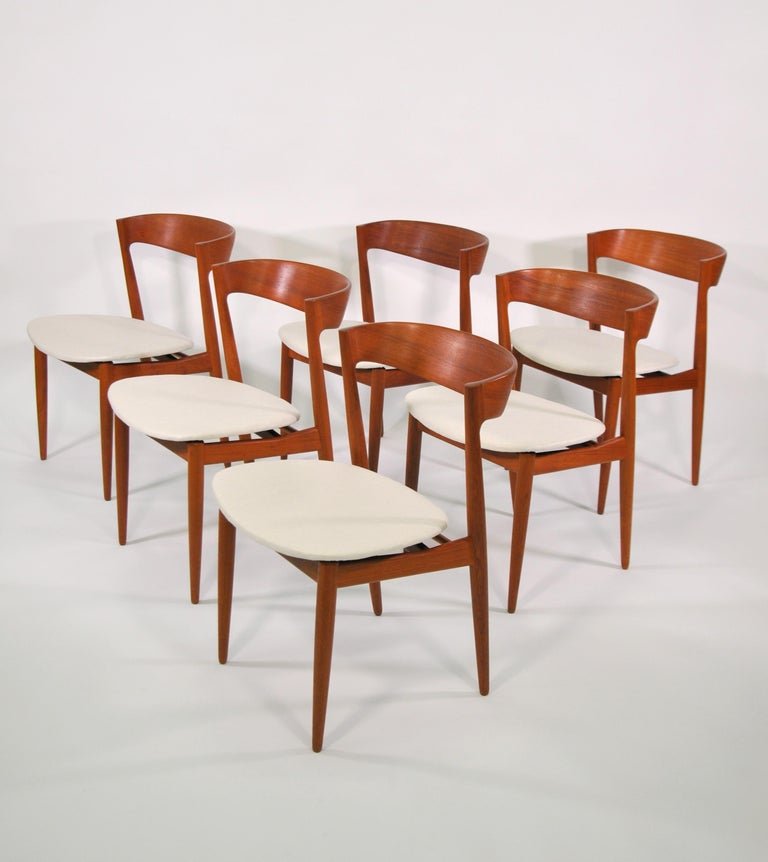 Mid-Century Modern Set of Six H.W. Klein for Bramin Teak Dining Chairs For Sale