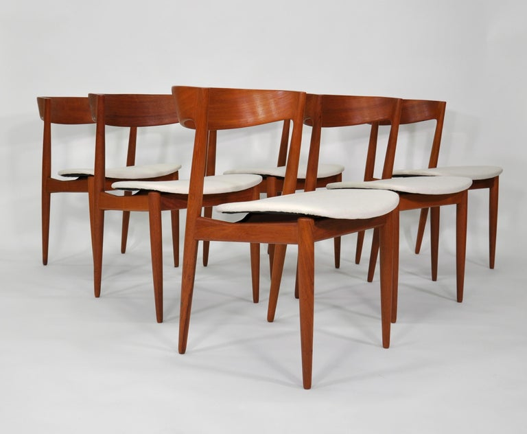 Danish Set of Six H.W. Klein for Bramin Teak Dining Chairs For Sale