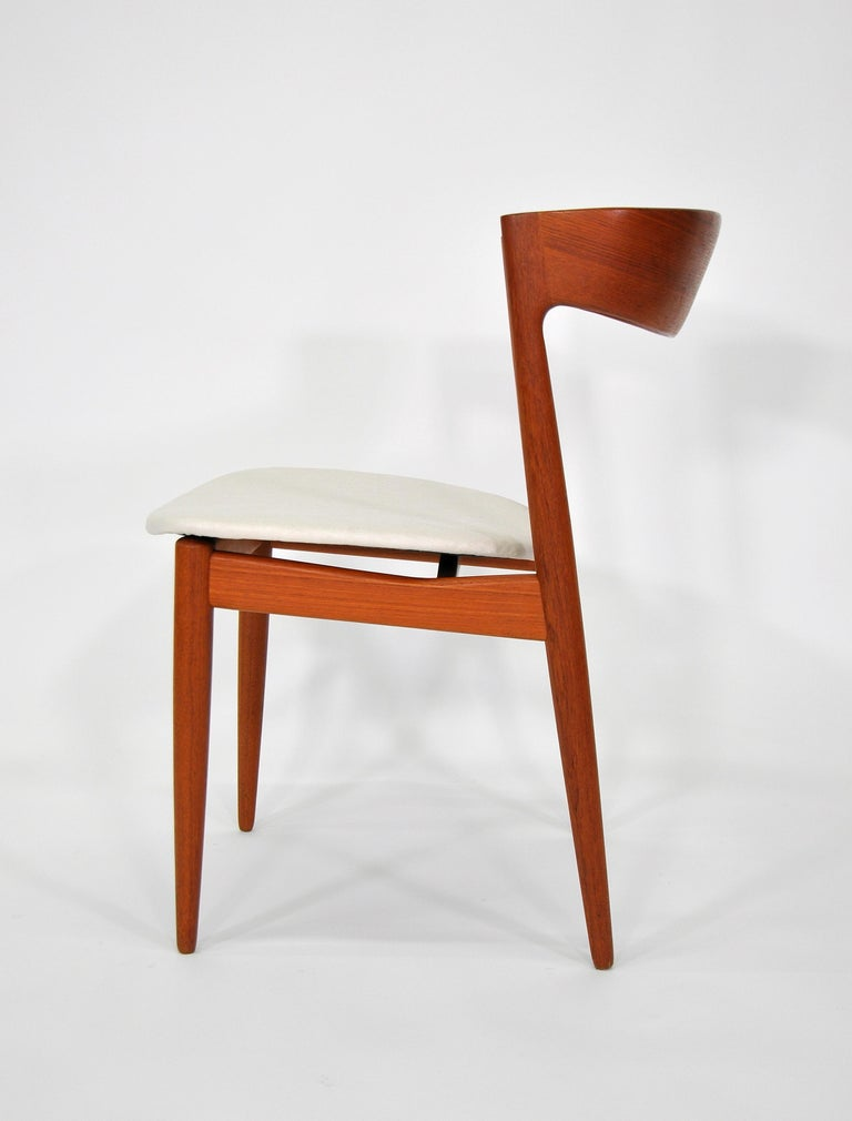 Fabric Set of Six H.W. Klein for Bramin Teak Dining Chairs For Sale