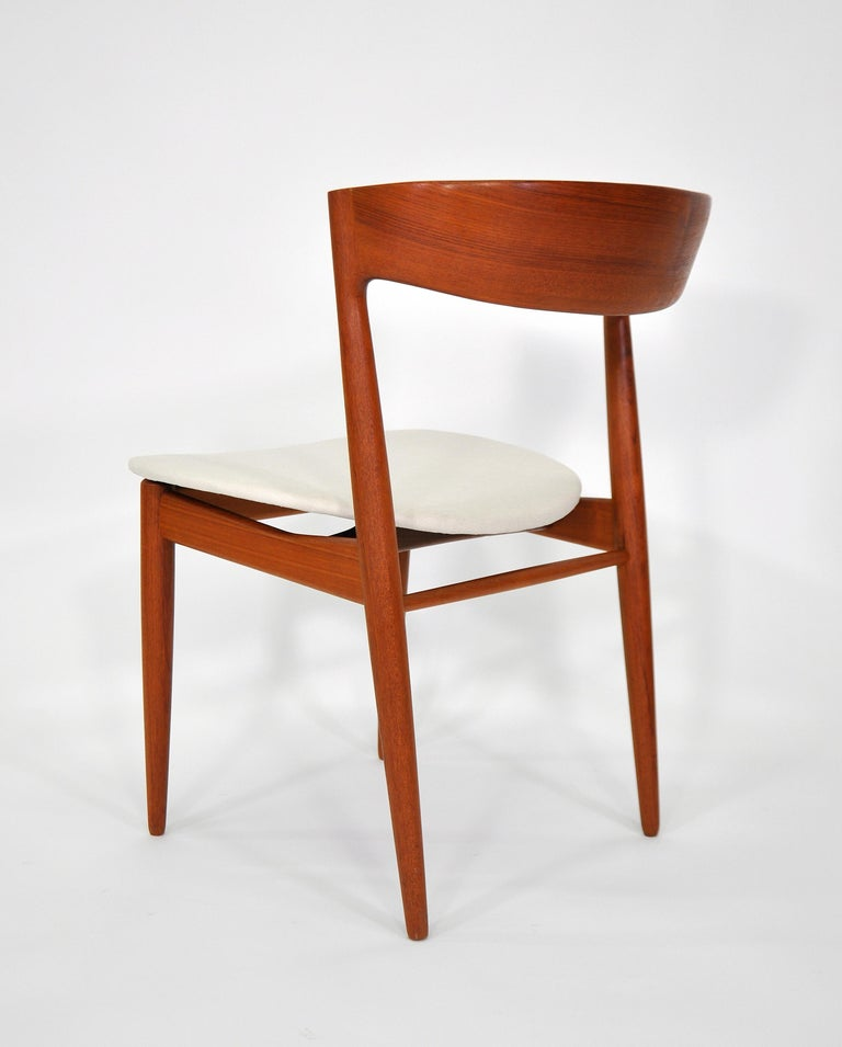 Set of Six H.W. Klein for Bramin Teak Dining Chairs For Sale 1