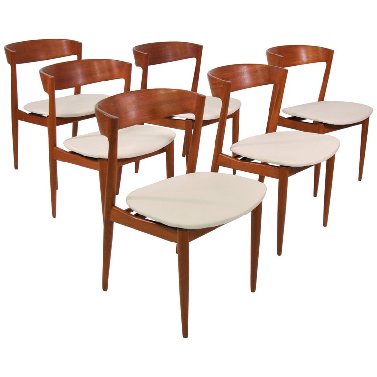 Set of Six H.W. Klein for Bramin Teak Dining Chairs For Sale