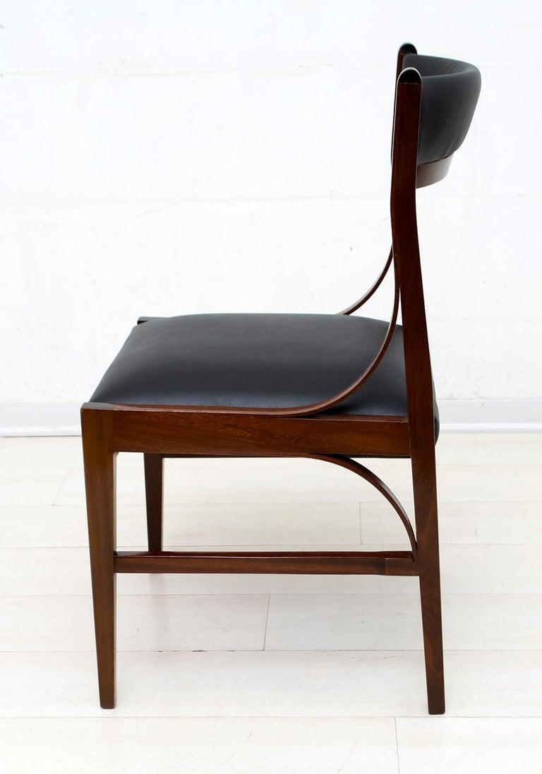 Set of Six Ico Parisi Mid-Century Modern Italian Mahogany Dining Chairs, 1960s For Sale 6