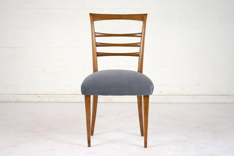 20th Century Set of Six Ico Parisi Style Italian Dining Chairs For Sale
