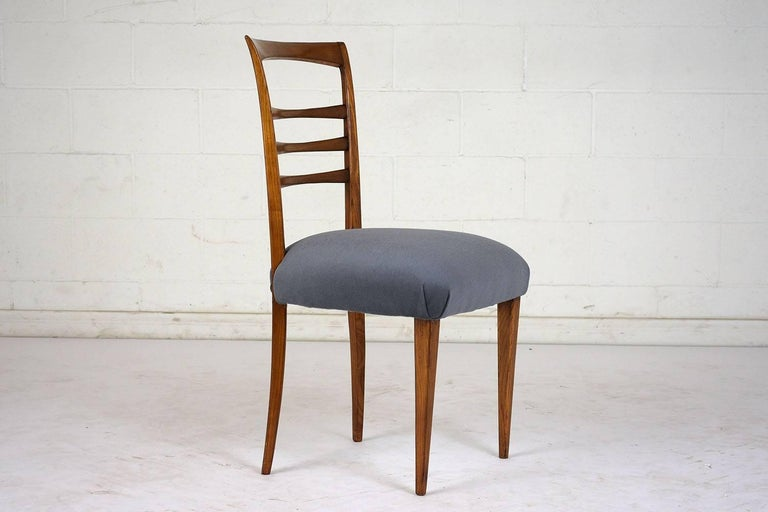 Set of Six Ico Parisi Style Italian Dining Chairs For Sale 1