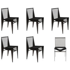 Set of Six Icon Chairs in Steel and Rope by Christopher Kreiling, Contemporary