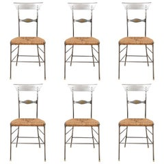 "Set of Six Industrial Style ""Firenze"" Cafe Chairs"