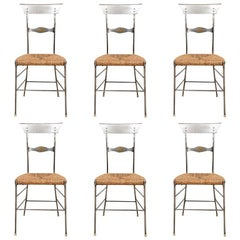 """Set of Six Industrial Style """"Firenze"""" Cafe Chairs"""