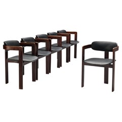Set of Six Italian Armchairs with Bentwood Frames