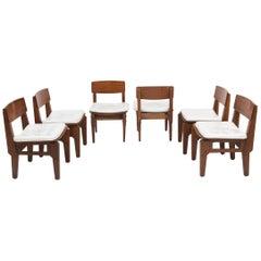 Set of six Italian chairs by Arc. Vito Sangirardi for the Pallante shop, Bari