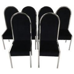 Set of Six Italian Design Dining Chairs by Mario Sabot
