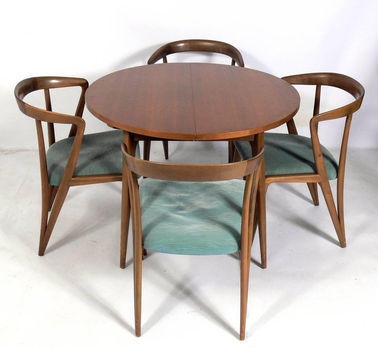 Mid-20th Century Set of Six Italian Dining Chairs by Bertha Schaefer