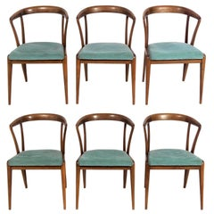 Set of Six Italian Dining Chairs by Bertha Schaefer