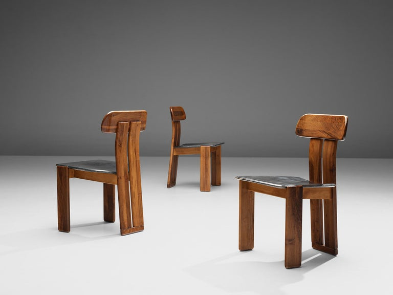 Mid-Century Modern Set of Six Italian Dining Chairs by Sapporo