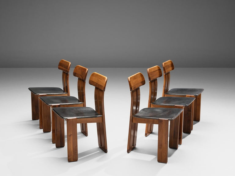 Set of Six Italian Dining Chairs by Sapporo In Good Condition In Waalwijk, NL