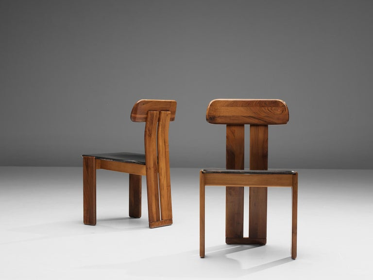 Late 20th Century Set of Six Italian Dining Chairs by Sapporo