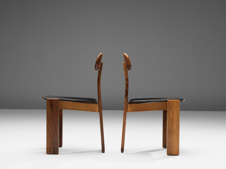 Set of Six Italian Dining Chairs by Sapporo 2
