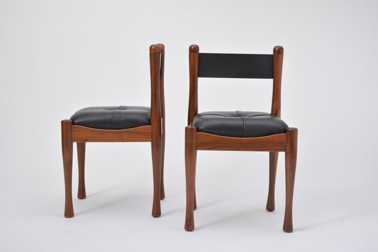 Set of six Italian Mid-Century dining chairs by Silvio Coppola for Bernini For Sale 4